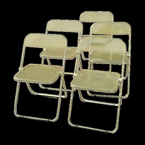 Chaises de Giancarlo Piretti pour Castelli 1967