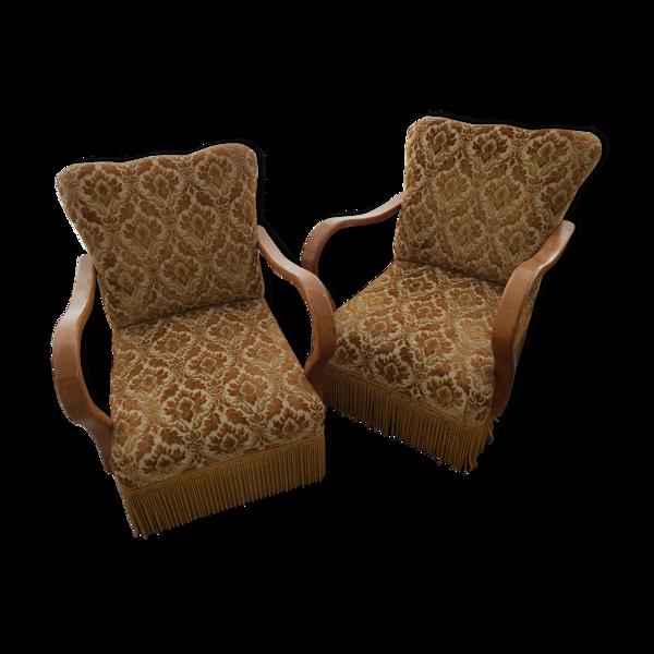 Selency Paire de fauteuils art deco année 50 vintage