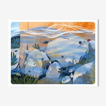 Illustration «Petit Bain» A4