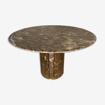 Table à manger en onyx par Jean Charles, 1970