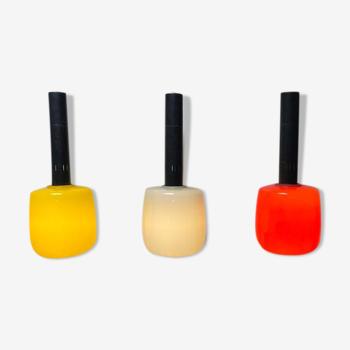 Ensemble de lampes italiennes jaunes, blanches, rouges