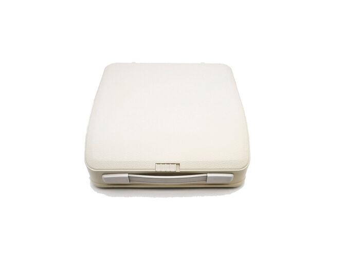 Machine à écrire Japy Baby Hermes blanche révisée ruban neuf