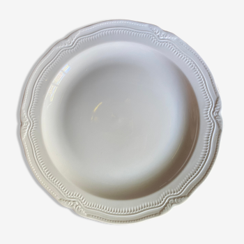 Large flat dish in fine porcelain from Limoges de Bernardaud 30 cm in diameter