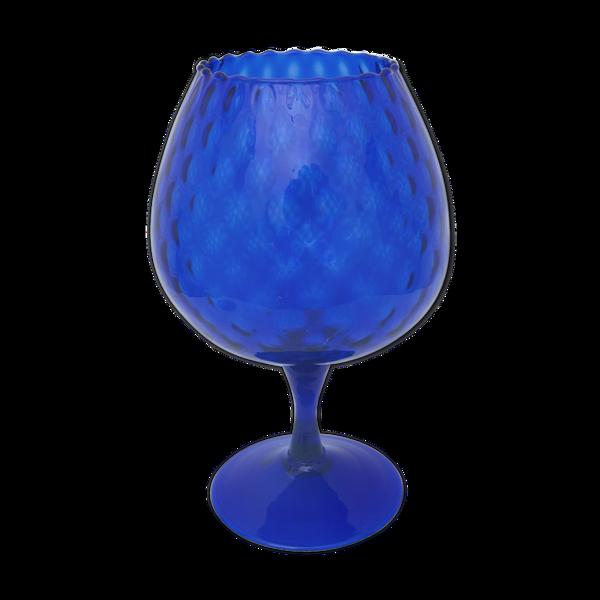 Vase verre bleu roi
