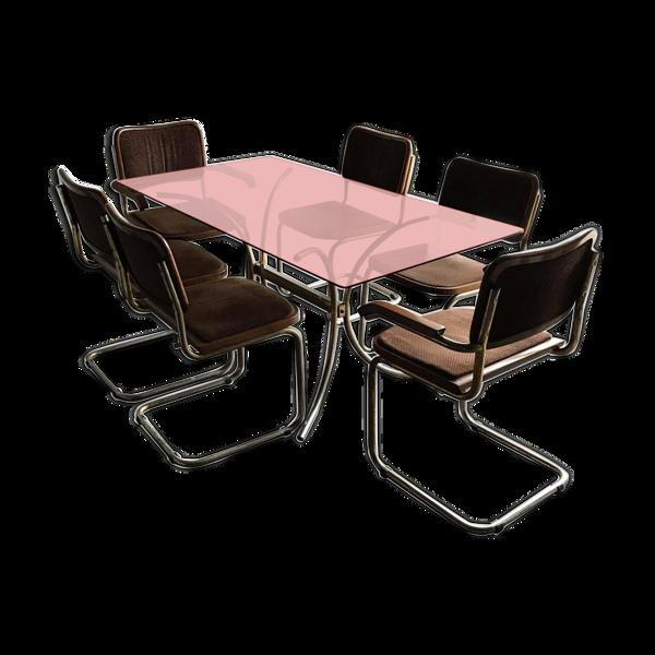 Selency Ensemble table et chaise Cesca de Marcel Breuer