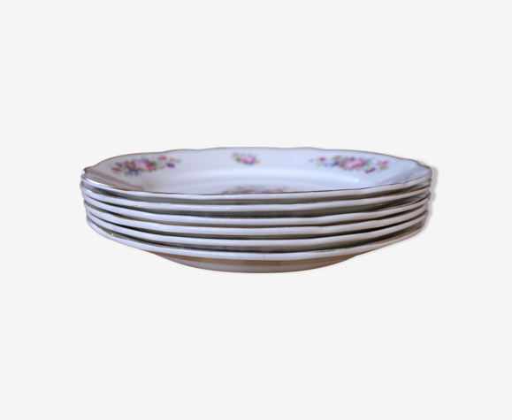6 assiettes vintage fleuries Digoin & Sarreguemine