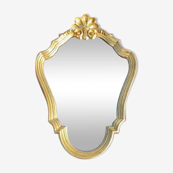 Miroir coquille années 70 57x40cm