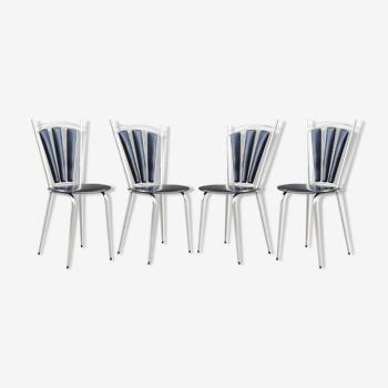 Ensemble de 4 chaises années 60 vintage
