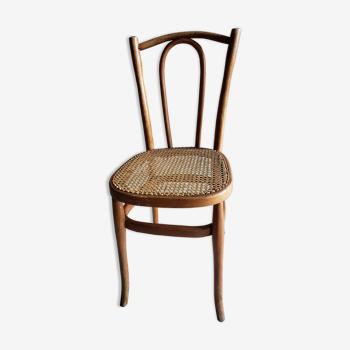 Ancienne chaise cannée desloges 39