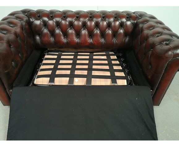 Canapé chesterfield cuir convertible