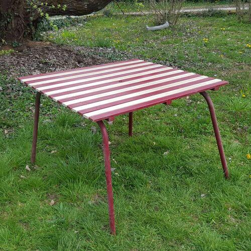 Table de jardin vintage 1950