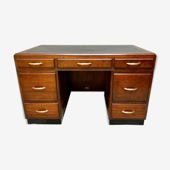 Bureau Art Déco avec tiroirs H.Baldock & Sons