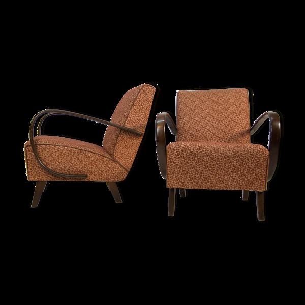 Paire de fauteuils de Jindrich Halabala, années 1940