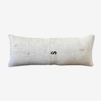 Bohemian decor lumbar white pillow covers 14x36