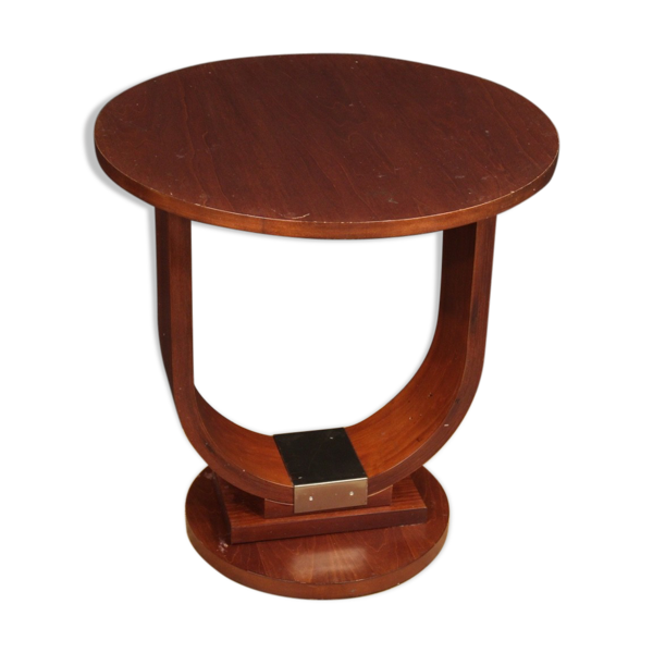 Table d'appoint italienne enacajou et bois de fruit