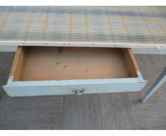 Table de ferme vintage avec tiroir
