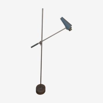 Ancien lampadaire à balancier contrepoids vintage 1950 Style Guariche Lunel knoll