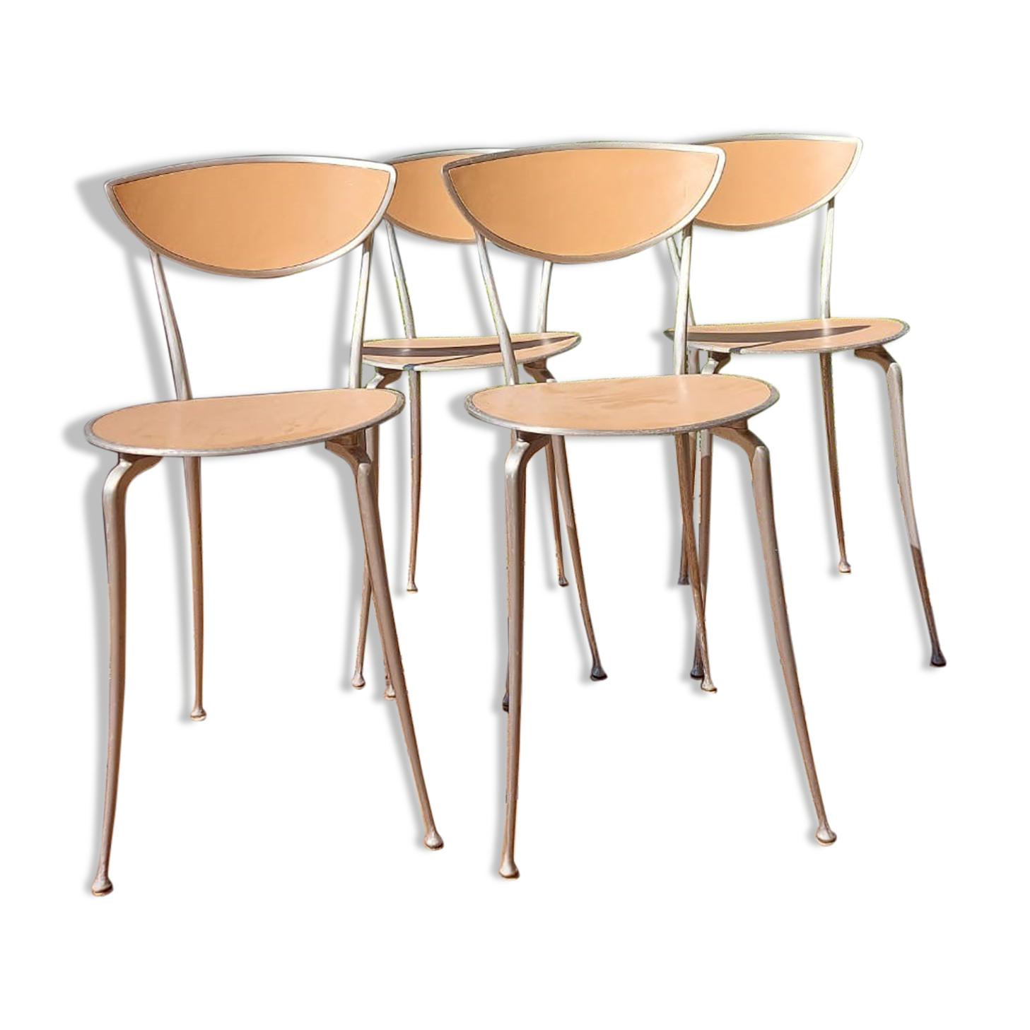 4 chaises style industriel arper