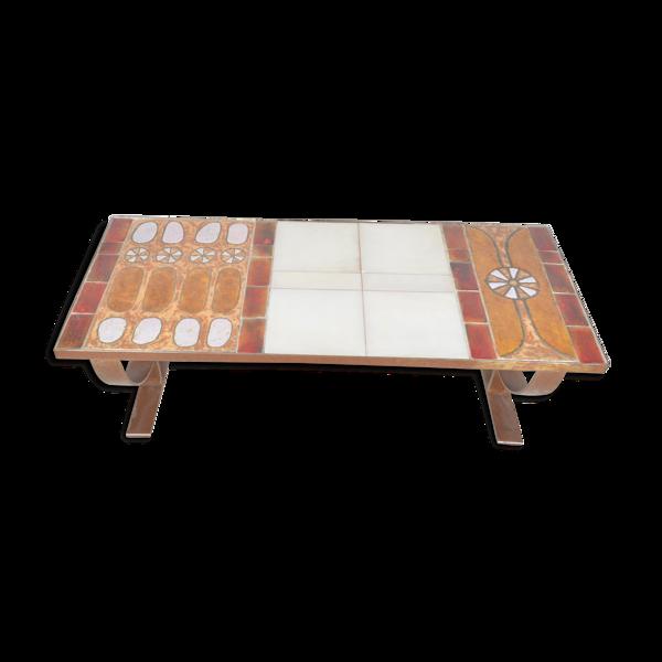 Table en céramique Roche Bobois 1970