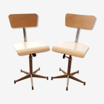 Deux chaises d'atelier