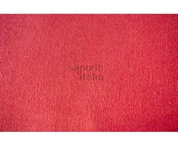 Lit avec chevet en érable et tissu par Giovanni Offredi pour Saporiti Italia années 1970