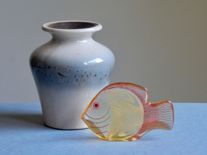 Vase d'Allemagne de l'ouest céramique des années 60