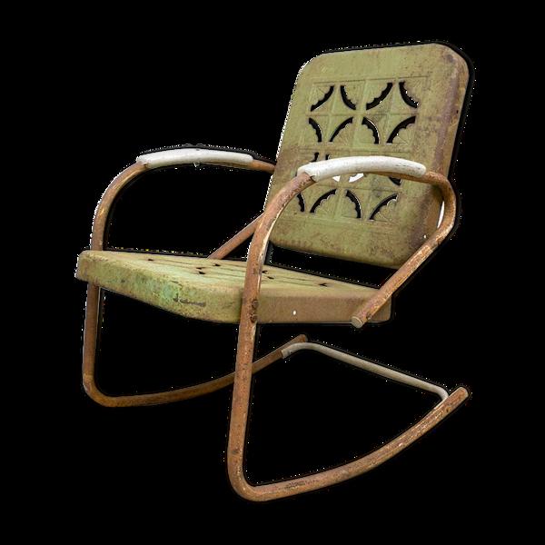 Selency Chaise à bascule vintage