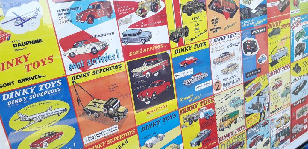 Affiche couleur jouets Dinky Toys