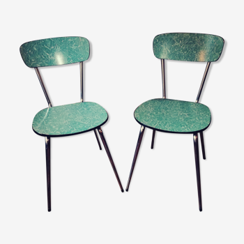 Two chairs in formica