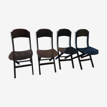 4 chaises pliantes