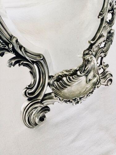 Miroir en bronze argenté Napoléon III
