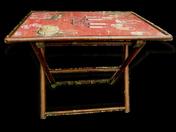 Ancienne table pliante en bois