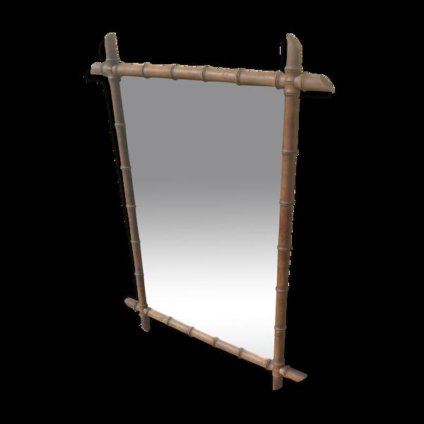 Miroir bambou ancien - 60x90cm