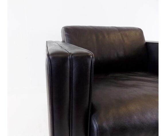 Fauteuil en cuir Walter Knoll Studio Line par Jürgen Lange