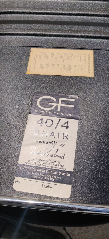 Chaise David Rowland GF 4 / 40 métal noir