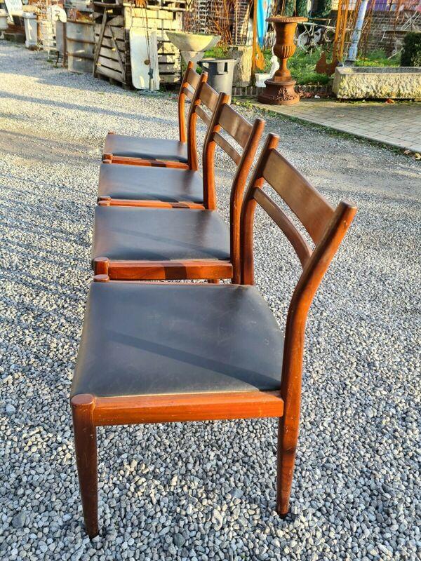 Chaises italiennes en acajou de marque Gessef