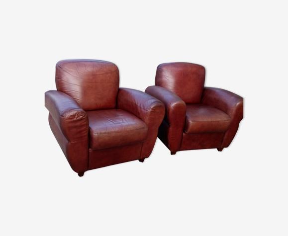 Paire de fauteuils clubs