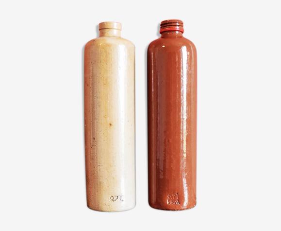 Set de 2 bouteilles en grès
