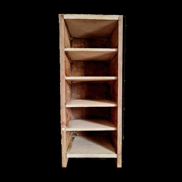 Etagère ancienne d'atelier en bois