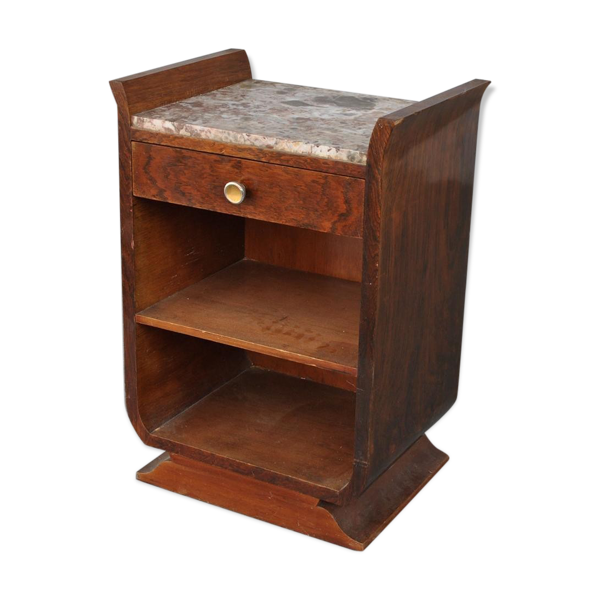 Selency Table de chevet en lyre art déco 1930