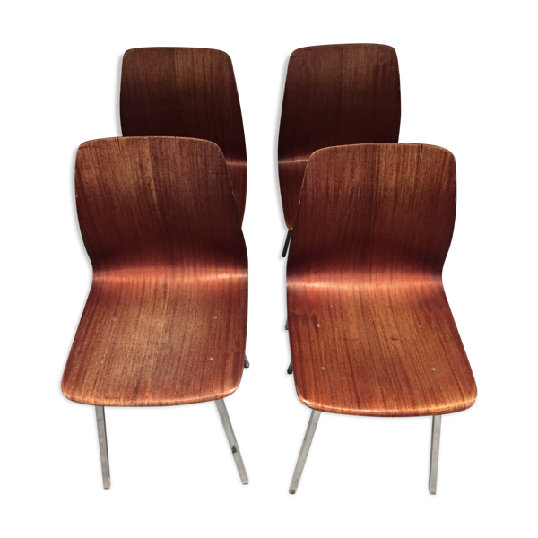 Suite de 4 chaises Paghoz années 60