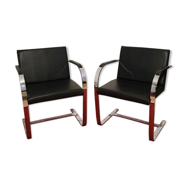 Lot de 2 fauteuils Alivar Brno de Ludwig Mies Van Der Rohe
