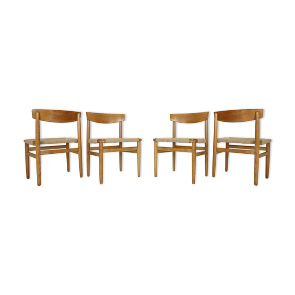 Selency Lot de 4 chaises «modèle 537 Øresund» de Børge Mogensen éditées par Karl Andersson