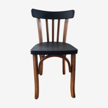 Chaise bistrot ancienne en bois
