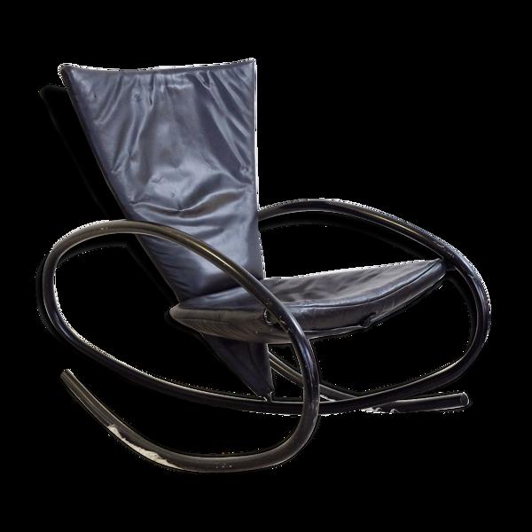 Selency Rocking-chair noir