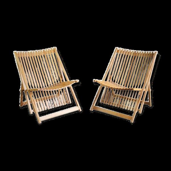 Selency Paire de fauteuils A1 Jean-Claude Duboys France 1980