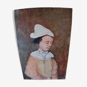 Portrait à l'huile sur toile de François Heaulmé