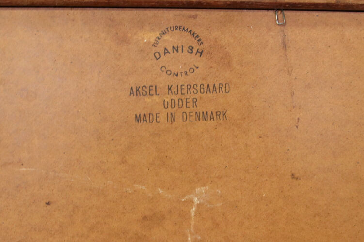 Miroir en teck de Kai Kristiansen pour Aksel Kjærsgaard 51x84cm