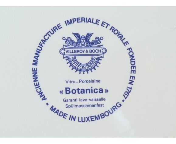 Plat rond creux Villeroy et Boch modele botanica
