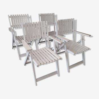 Lot de chaises de jardin pliantes